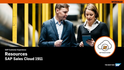 Thumbnail for entry Resources for SAP Sales Cloud Release 1911