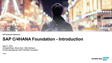 Thumbnail for entry Introduction - SAP C/4HANA Foundation - Webinars