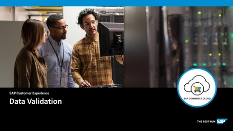 Thumbnail for entry Introduction to Validation - SAP Commerce Cloud