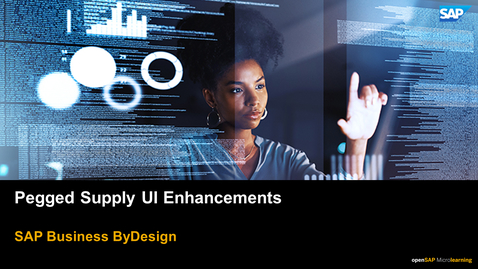Thumbnail for entry Pegged Supply UI Enhancements - SAP Business ByDesign