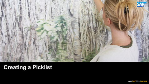 Thumbnail for entry Creating a Picklist - SAP SuccessFactors