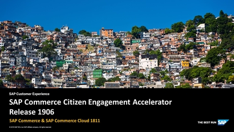 Thumbnail for entry Citizen Engagement Accelerator Release 1906 - SAP Commerce Cloud