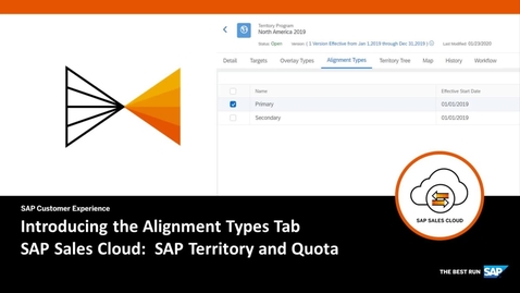 Thumbnail for entry Introducing the Alignment Types Tab in SAP Territory and Quota