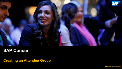 Thumbnail for entry Creating An Attendee Group - SAP Concur