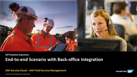 End to end scenario with back-office integration -  SAP Field Service Management
