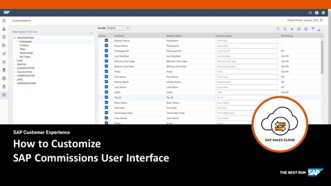 Thumbnail for entry Customization of User Interface - SAP Commissions