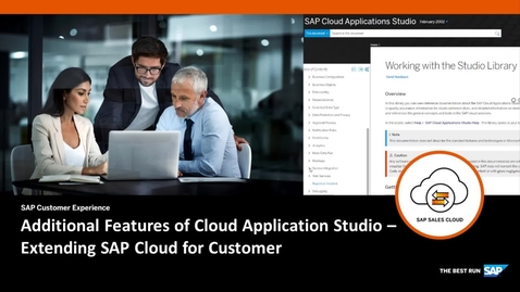 Thumbnail for entry Additional Features of Cloud Application Studio - Extending SAP Cloud for Customer