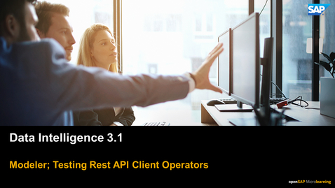 Thumbnail for entry Testing Rest Api Operators - SAP Data Intelligence