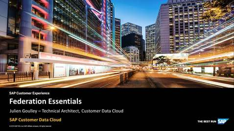 Thumbnail for entry Federation Essentials - SAP Customer Identity
