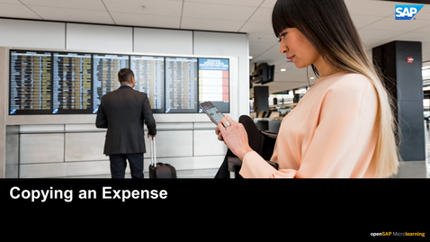Thumbnail for entry Copying An Expense - SAP Concur