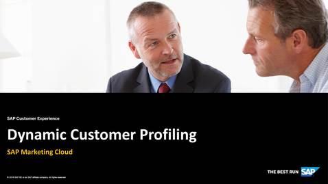 Thumbnail for entry Consumer and Customer Profiling - SAP Marketing Cloud