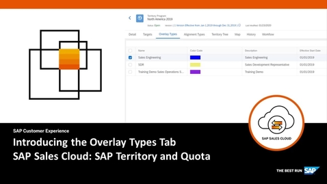 Thumbnail for entry Introducing the Overlay Types Tab in SAP Territory and Quota