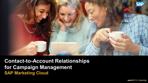 Thumbnail for entry Contact-to-Account Relationships for Campaign Management - SAP Marketing Cloud