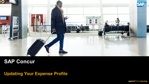 Thumbnail for entry Updating Your Expense Profile - SAP Concur