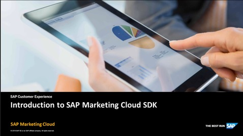 Thumbnail for entry Introduction to SAP Marketing Cloud SDK