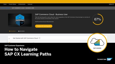 Thumbnail for entry How to Navigate SAP CX Learning Paths