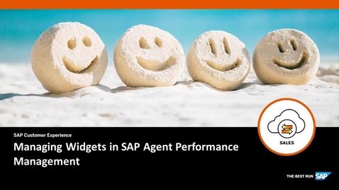 Thumbnail for entry Managing Widgets in SAP Agent Performance Management