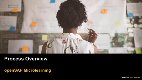 Thumbnail for entry Process Overview - openSAP Microlearning