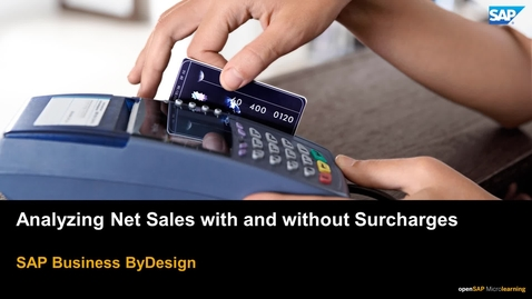 Thumbnail for entry Analyzing Net Sales with and without Surcharges - SAP Business ByDesign