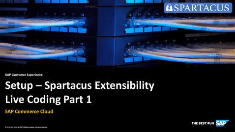 Thumbnail for entry Setup - Spartacus Extensibility Live Coding  Part 1 - SAP Commerce Cloud