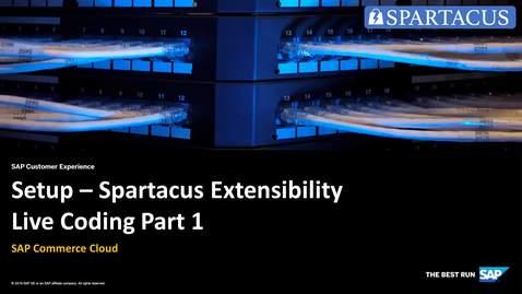 Thumbnail for entry Setup - Spartacus Extensibility Live Coding  Part 1 - SAP Commerce Cloud