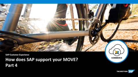 Thumbnail for entry How does SAP support your Move? Part 4 - SAP Commerce Cloud