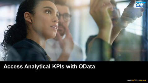 Thumbnail for entry Access Analytical KPIs with OData - SAP Business ByDesign