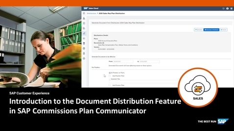 Thumbnail for entry Introduction to the Document Distribution Feature in SAP Commissions Plan Communicator