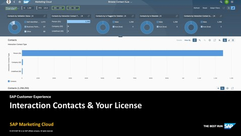Thumbnail for entry Interaction Contacts & Your License - SAP Marketing Cloud