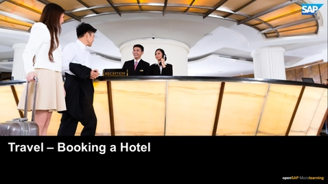 Thumbnail for entry Travel: Booking a Hotel - SAP Concur