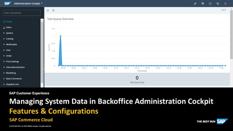 Thumbnail for entry Managing System Data in Backoffice Administration Cockpit - SAP Commerce Cloud