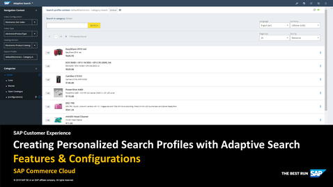 Thumbnail for entry Creating Personalized Search Profiles with Adaptive Search - SAP Commerce Cloud
