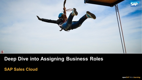 Thumbnail for entry Deep Dive into Assigning Business Roles - SAP Sales Cloud