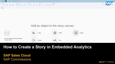 Thumbnail for entry How to Create a Story in Embedded Analytics for SAP Commissions
