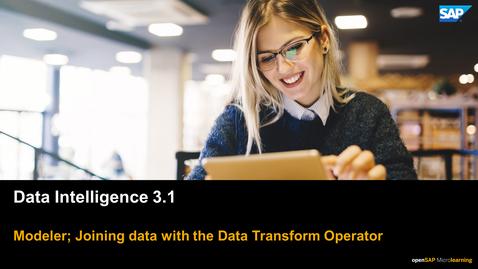 Thumbnail for entry Joining Data - SAP Data Intelligence