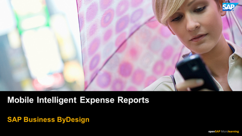 Thumbnail for entry Mobile Intelligent Expense Reports - SAP Business ByDesign