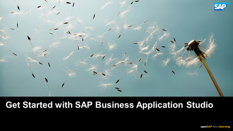 Thumbnail for entry Tutorial 7: Getting Started with SAP Business Application Studio - SAP HANA Cloud
