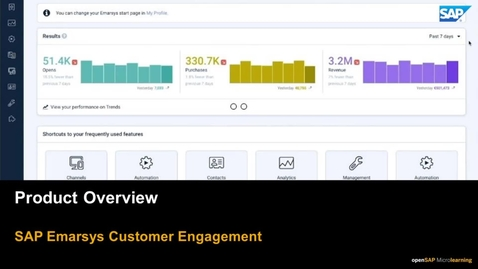 Thumbnail for entry Product Overview - SAP Emarsys Customer Engagement