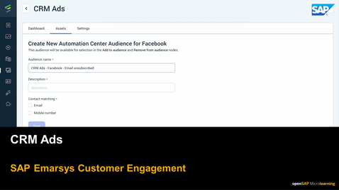 Thumbnail for entry CRM Ads - SAP Emarsys Customer Engagement