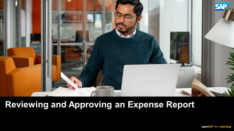 Thumbnail for entry Reviewing and Approving an Expense Report - SAP Concur
