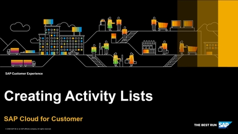 How to Create Activity Lists - SAP Cloud for Customer
