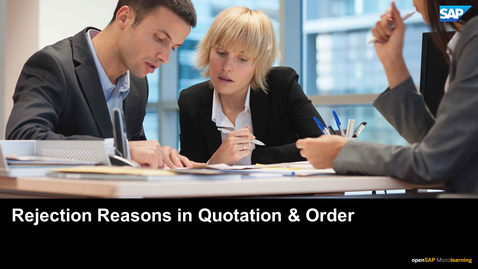 Thumbnail for entry Using Rejection Reasons in Service Quotations and Orders - SAP S/4HANA Service