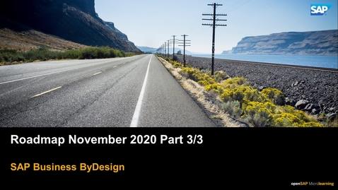 Thumbnail for entry Roadmap November 2020 Part 3/3 - SAP Business ByDesign