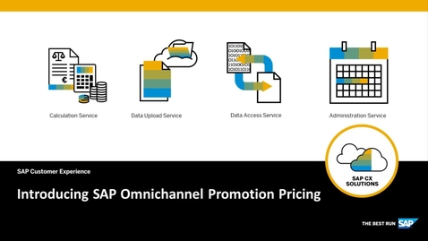 Thumbnail for entry Overview of SAP Omnichannel Promotion Pricing