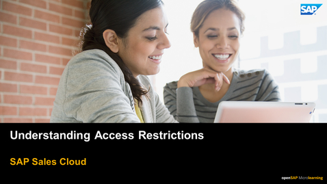 Thumbnail for entry Understanding Access Restrictions - SAP Sales Cloud