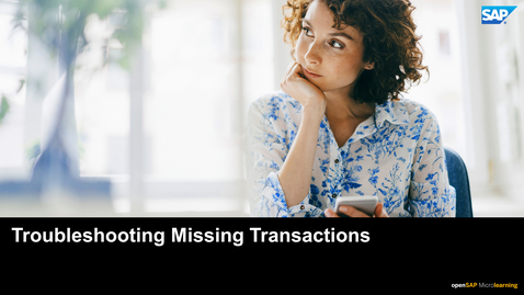 Thumbnail for entry Troubleshooting Missing Transactions - SAP Concur