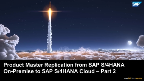 Thumbnail for entry Product Master Replication from SAP S/4HANA On-Premise to SAP S/4 HANA Cloud via DRF in Two-Tier ERP- Part 2