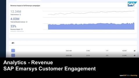 Thumbnail for entry Analytics -  Revenue - SAP Emarsys Customer Engagement