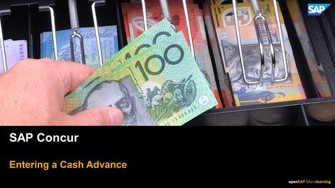 Thumbnail for entry Entering A Cash Advance - SAP Concur