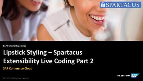 Thumbnail for entry Lipstick Styling - Spartacus Extensibility Live Coding Part 2 - SAP Commerce Cloud